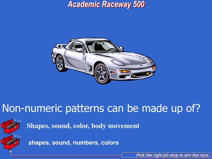 Shapes, sound, color, body movement