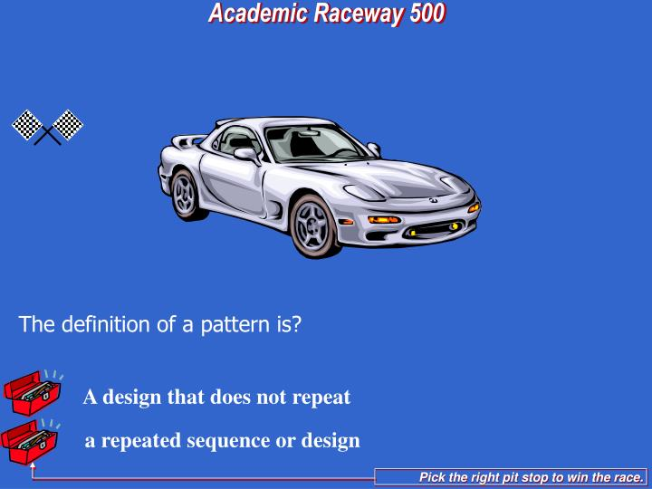 a repeated sequence or design