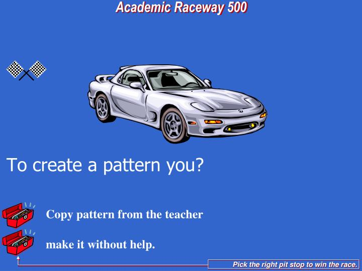 Copy pattern from the teacher