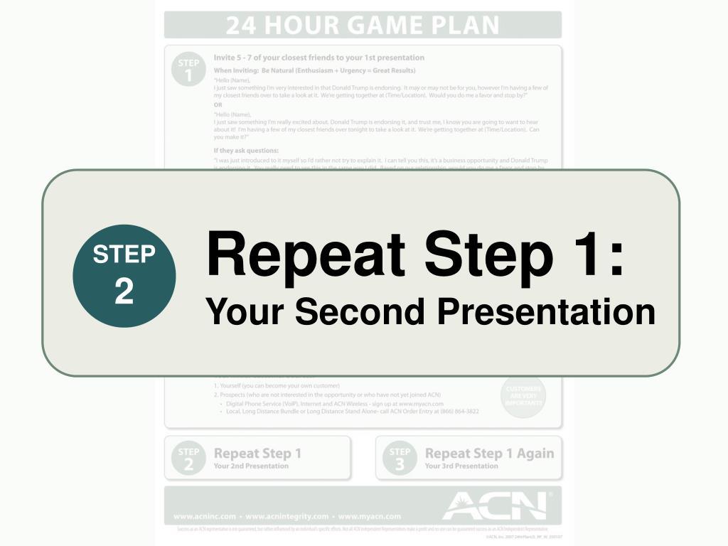 Repeat Step 1: