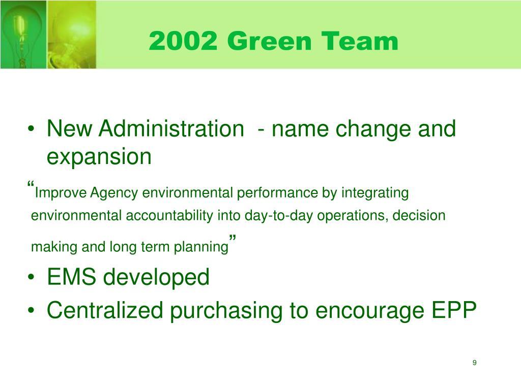 2002 Green Team