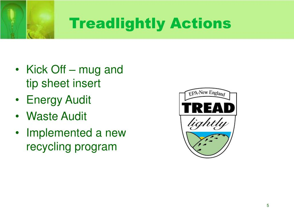 Treadlightly Actions