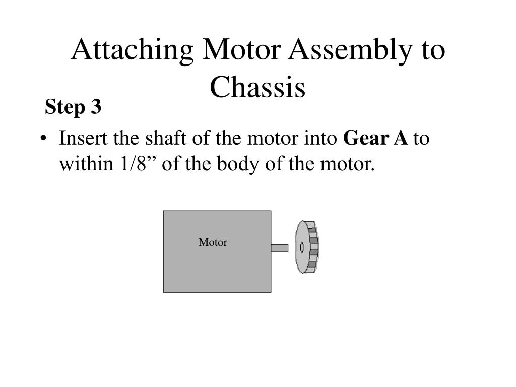 Attaching Motor Assembly to Chassis