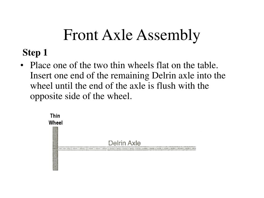 Front Axle Assembly