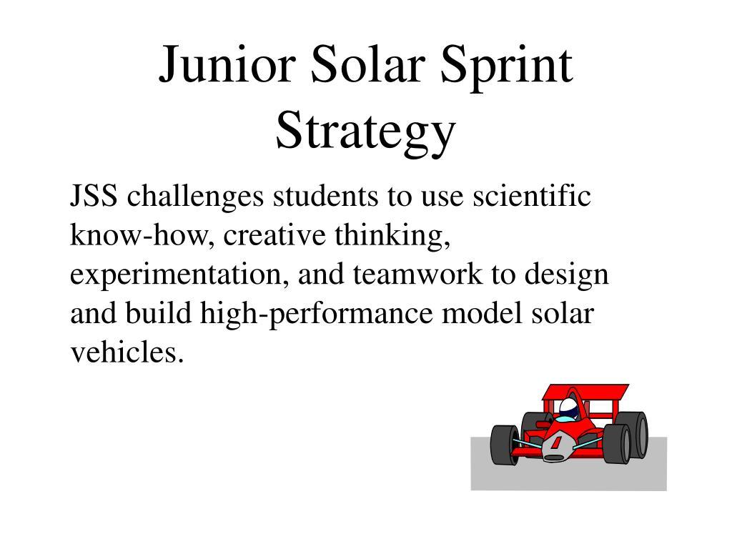Junior Solar Sprint Strategy