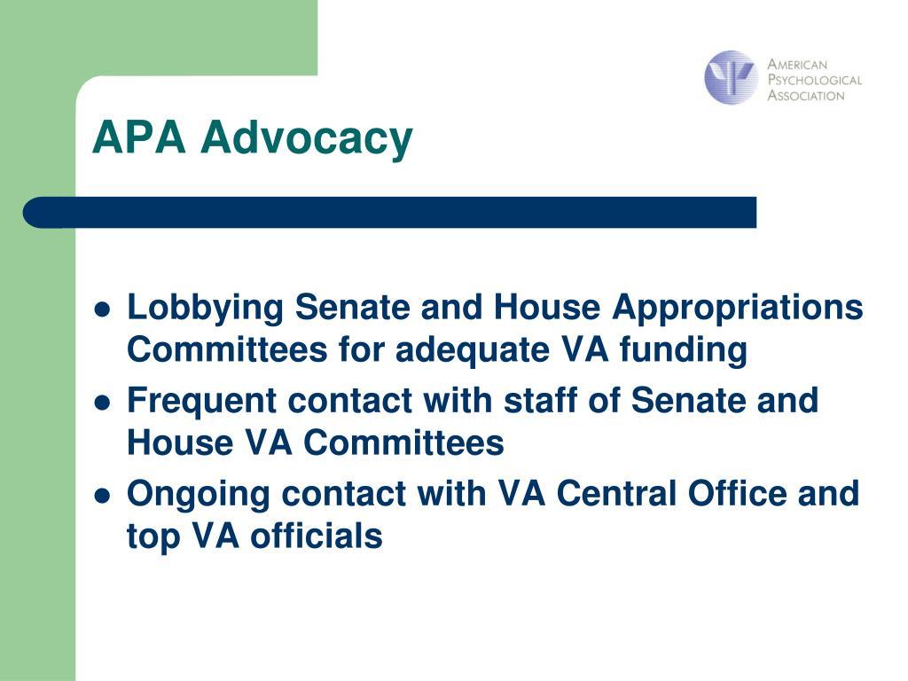 APA Advocacy