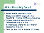apa is financially sound