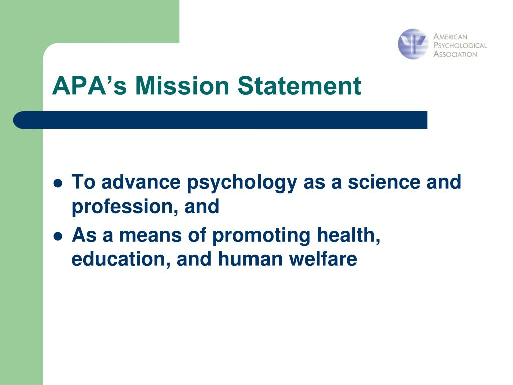 APA's Mission Statement