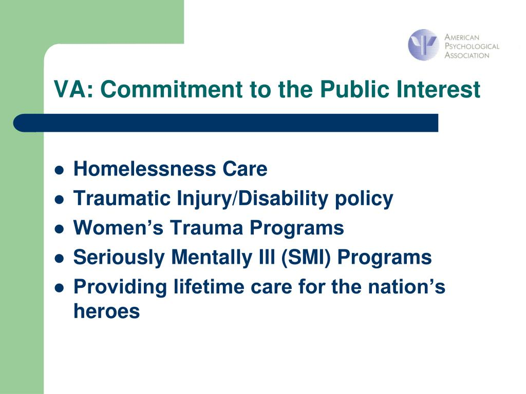 VA: Commitment to the Public Interest