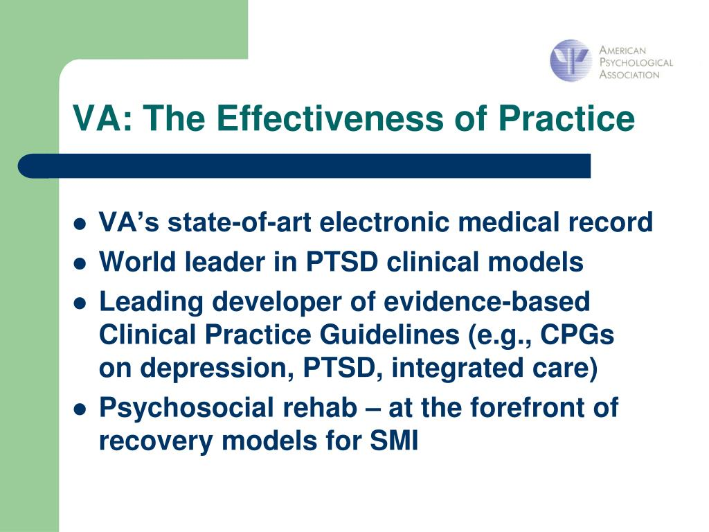 VA: The Effectiveness of Practice