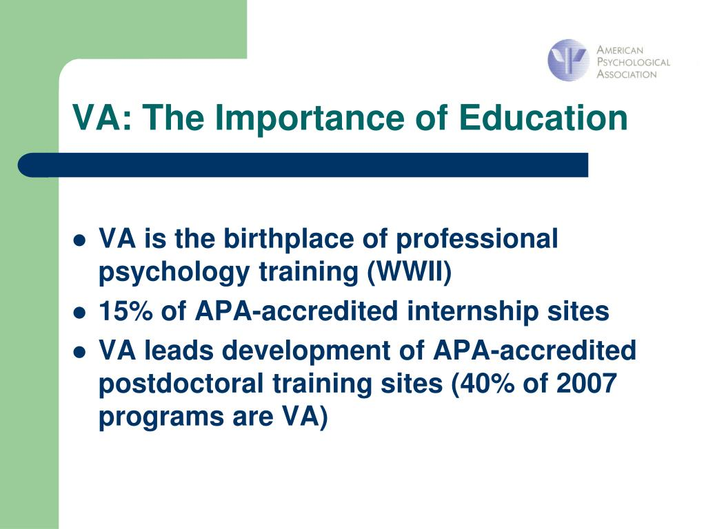 VA: The Importance of Education