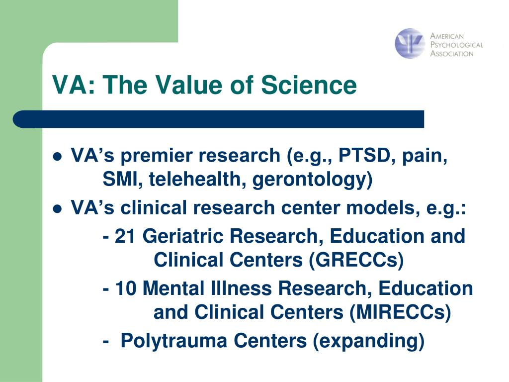 VA: The Value of Science