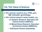 va the value of science