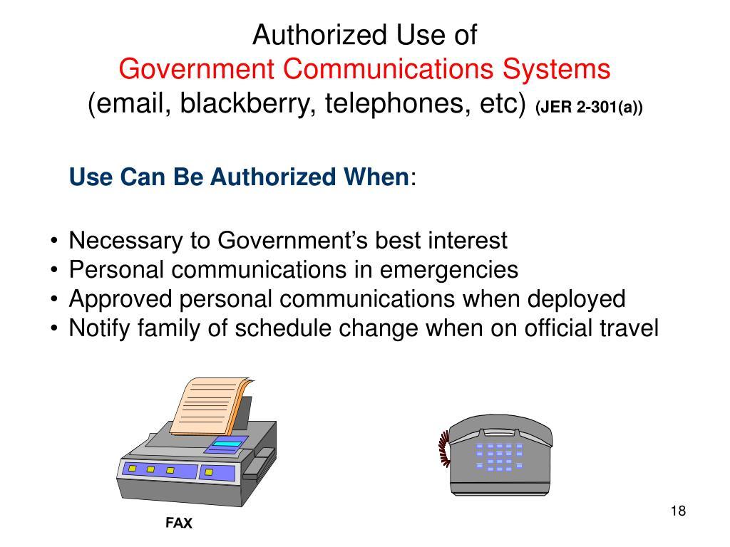 Authorized Use of