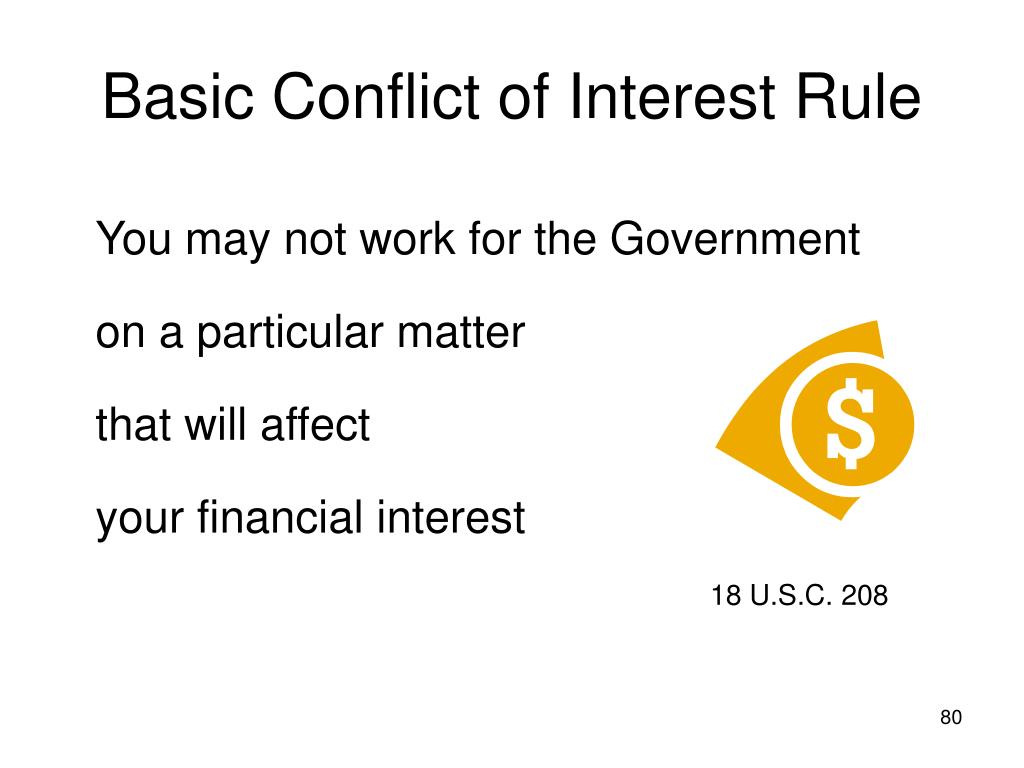 Basic Conflict of Interest Rule