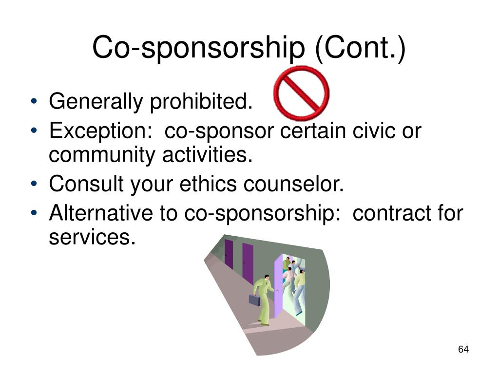 Co-sponsorship (Cont.)
