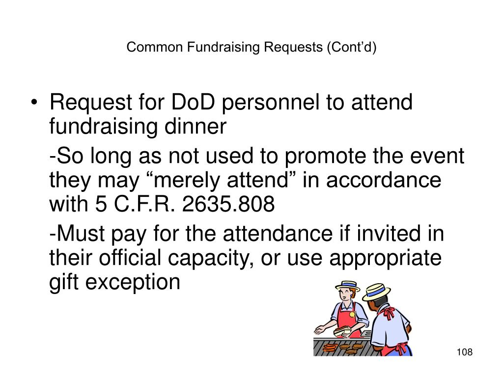 Common Fundraising Requests (Cont'd)