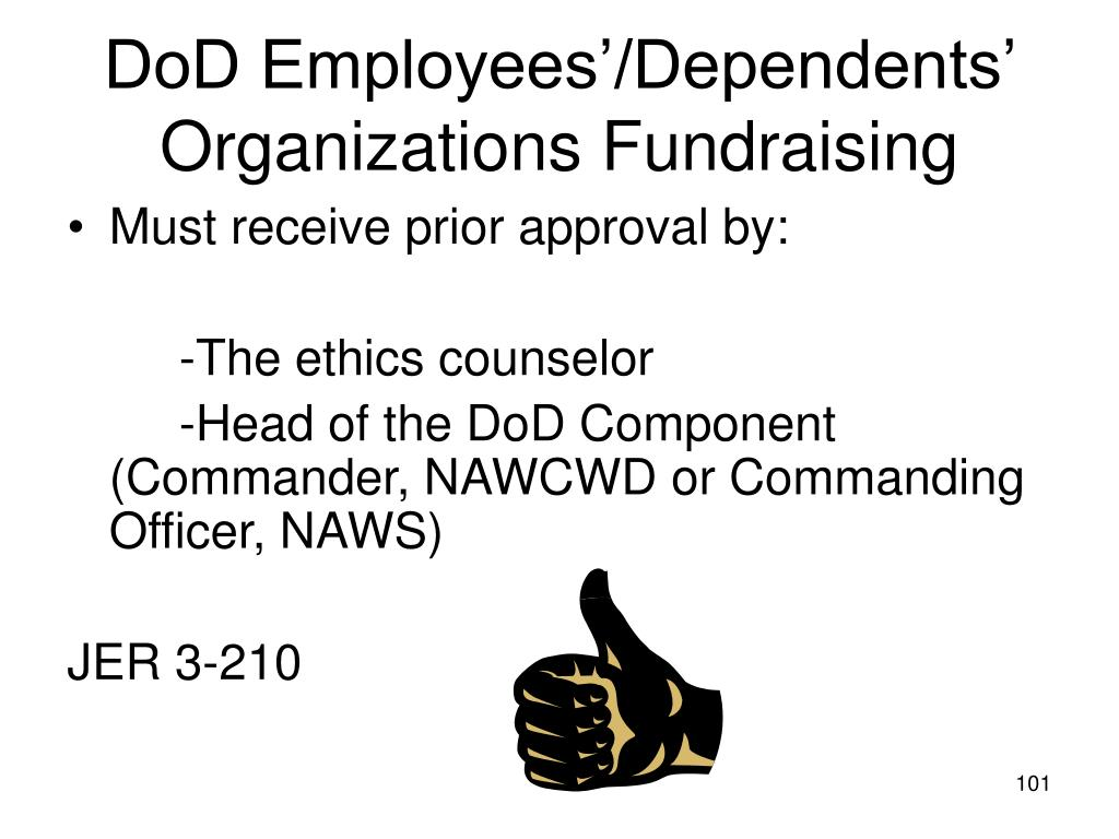 DoD Employees'/Dependents' Organizations Fundraising