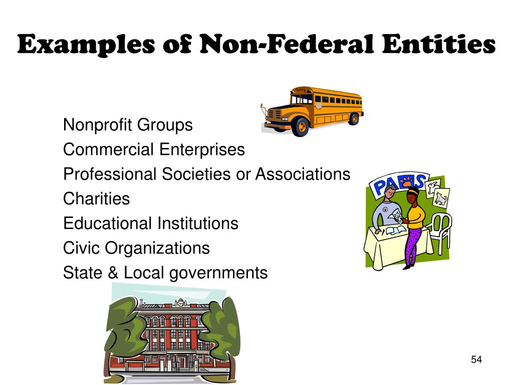 Examples of Non-Federal Entities