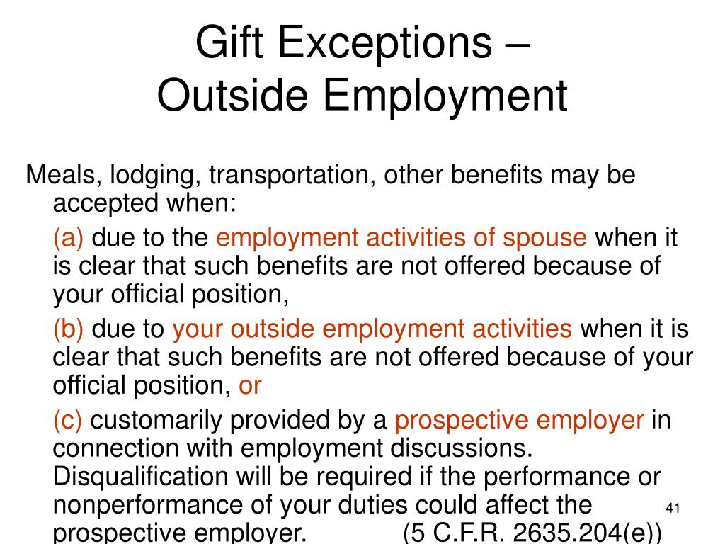Gift Exceptions –