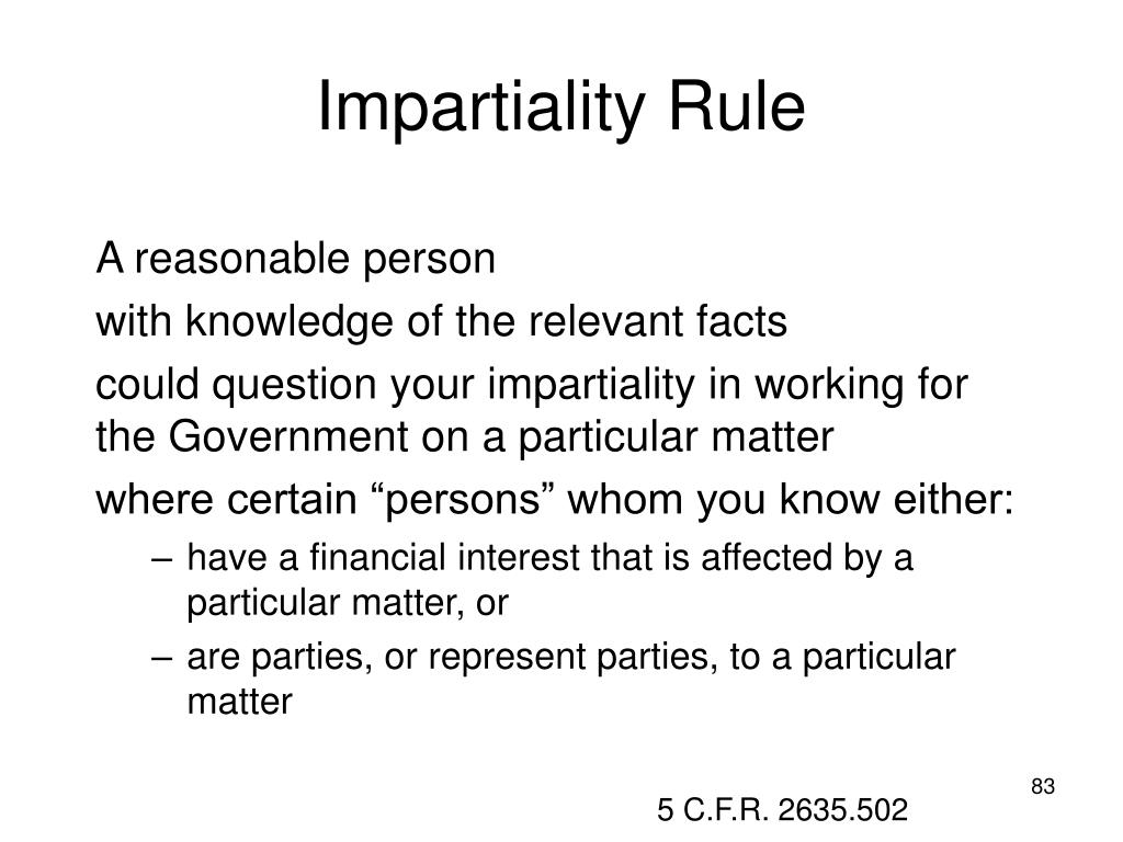 Impartiality Rule
