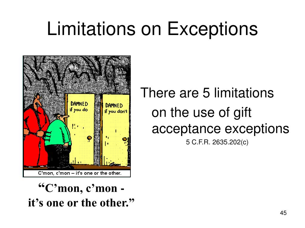 Limitations on Exceptions