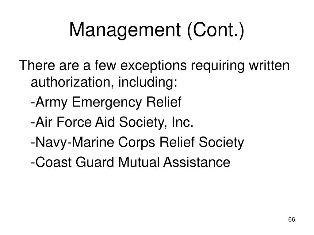 Management (Cont.)