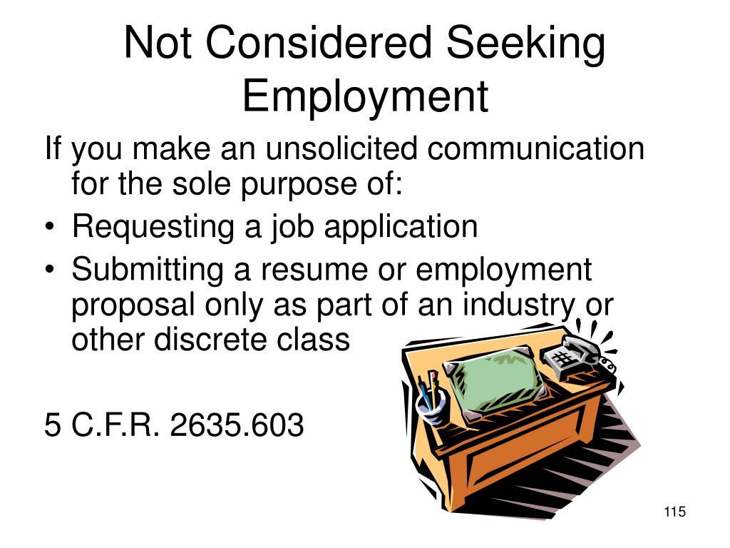 Not Considered Seeking Employment