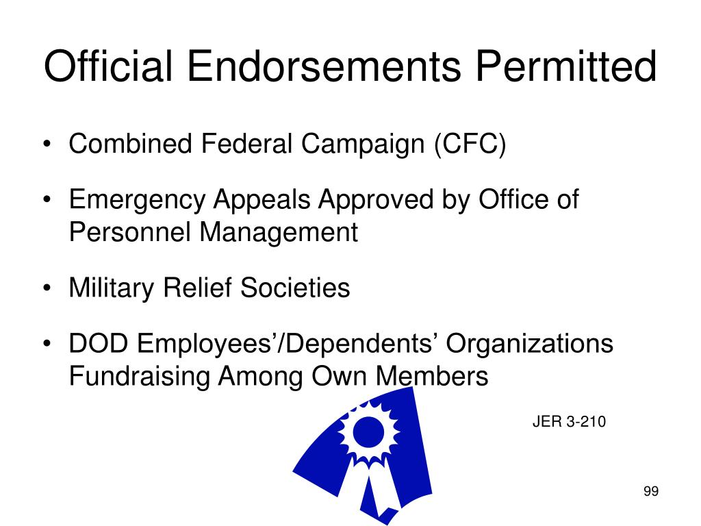 Official Endorsements Permitted