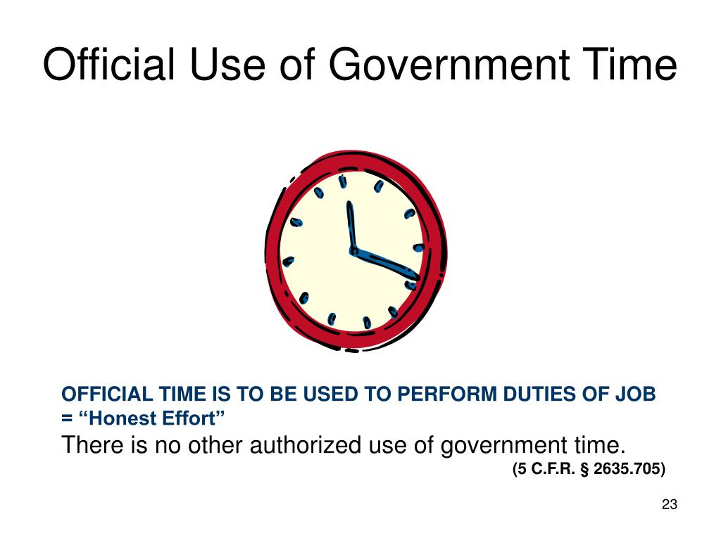 Official Use of Government Time