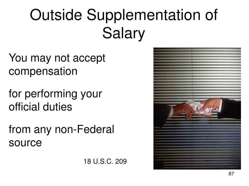 Outside Supplementation of Salary