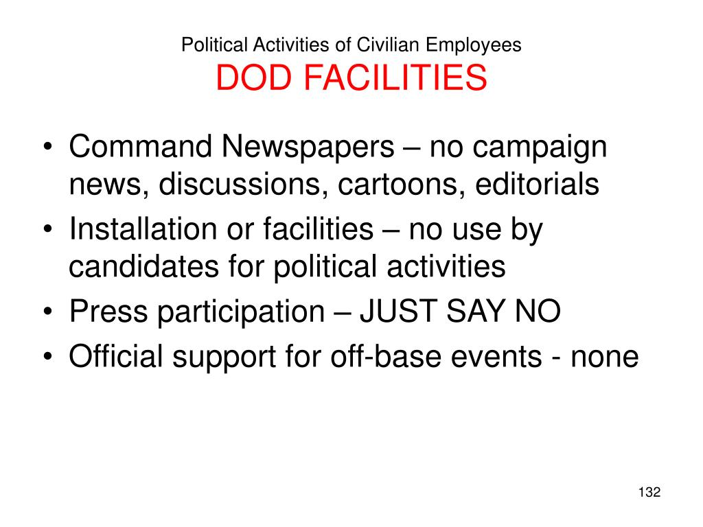 Political Activities of Civilian Employees