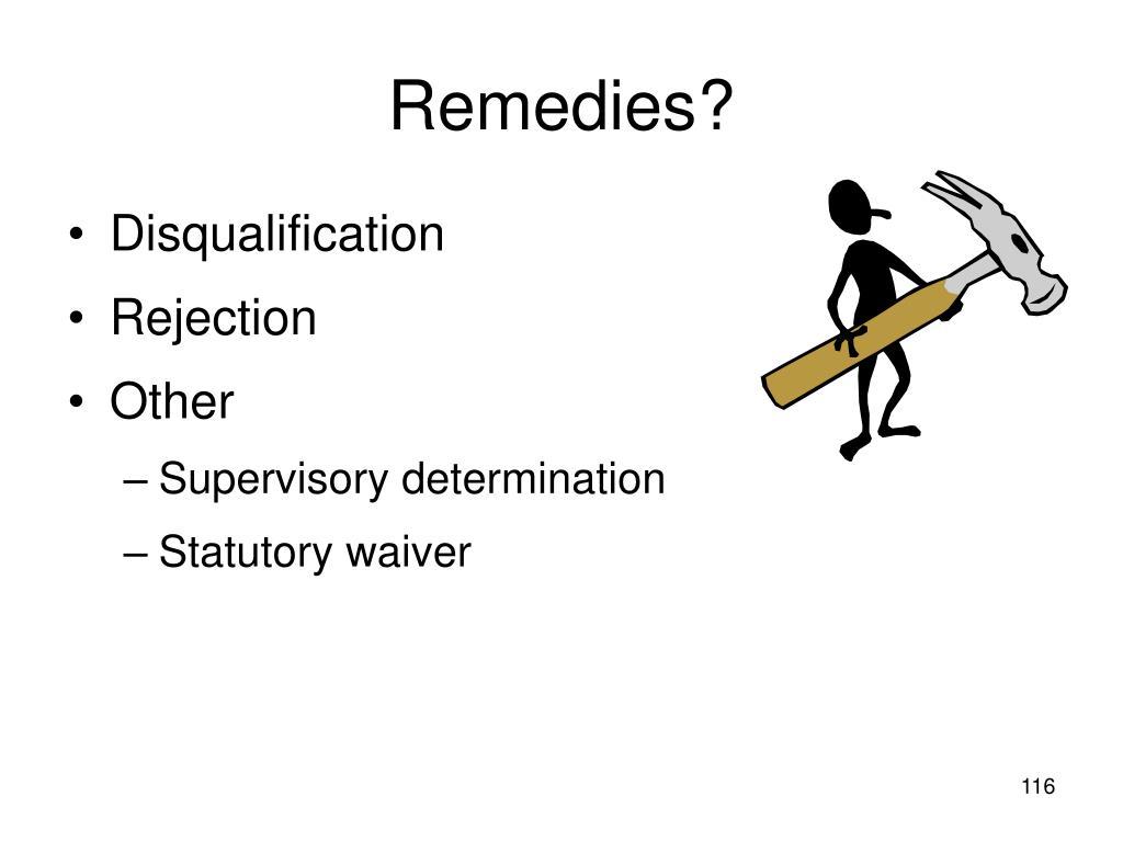 Remedies?