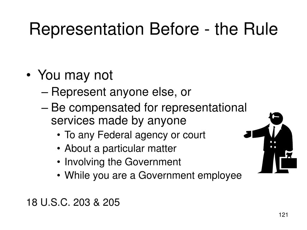 Representation Before - the Rule