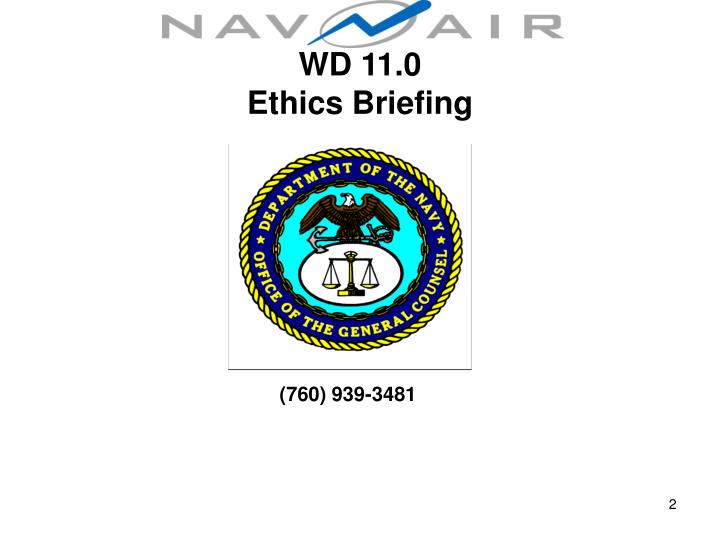 Wd 11 0 ethics briefing