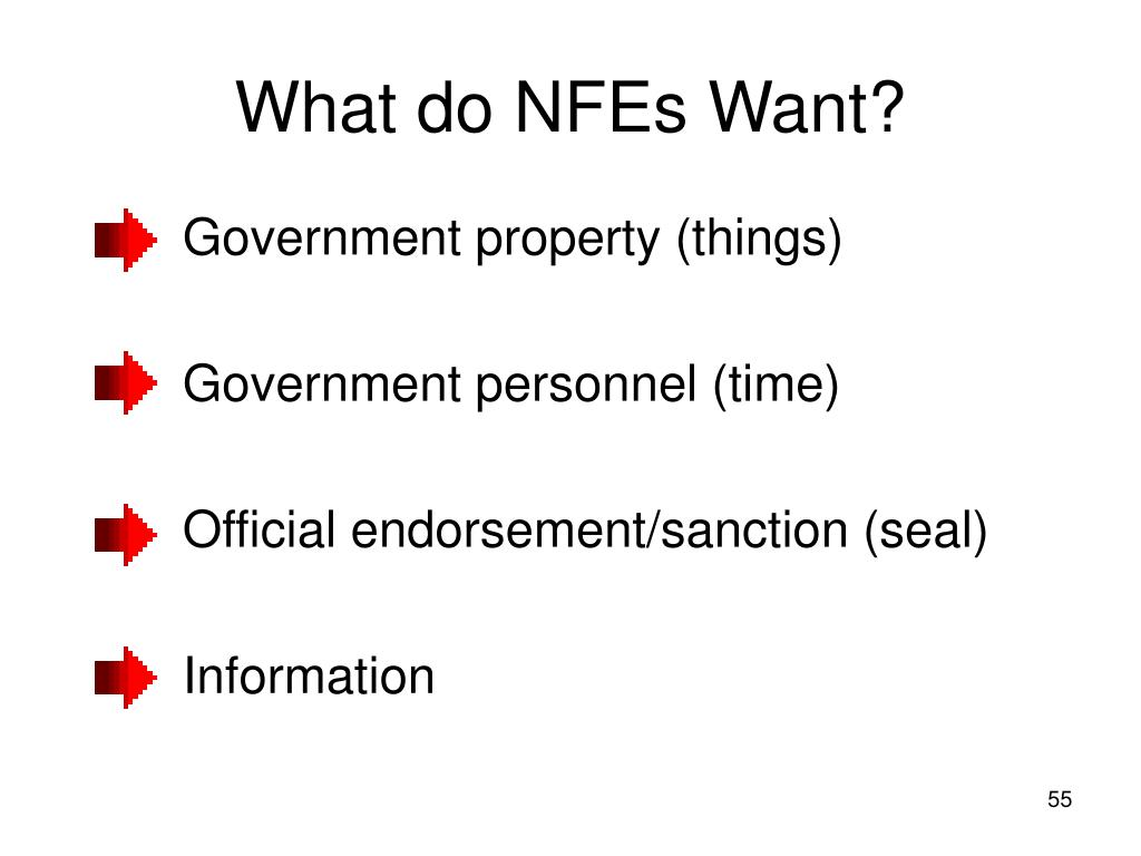 What do NFEs Want?