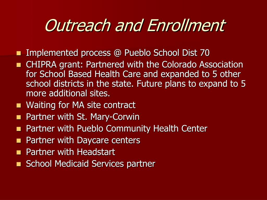 Outreach and Enrollment