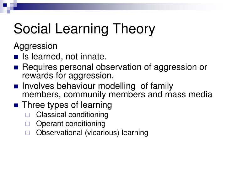 social learning theory essays Albert bandura proposed the theory of social learning there are three core concepts first is the idea that people can learn through observation.