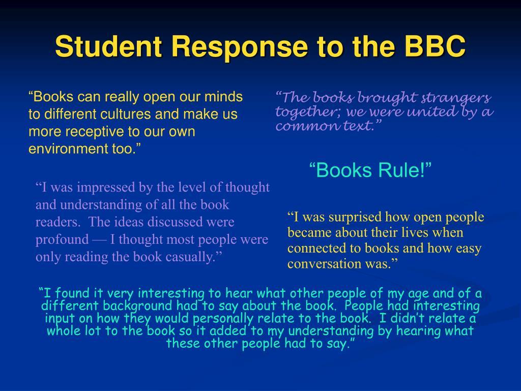 Student Response to the BBC