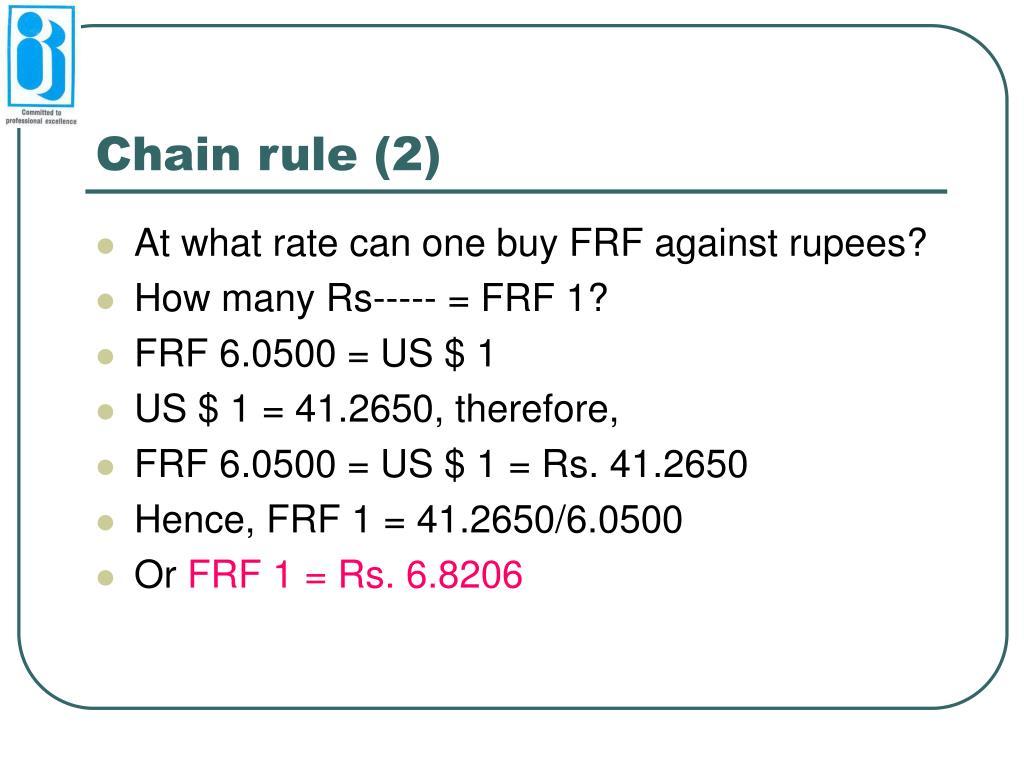 Chain rule (2)