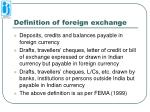 definition of foreign exchange