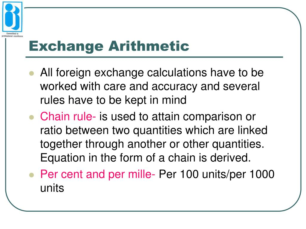 Exchange Arithmetic