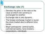 exchange rate 1