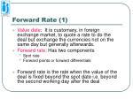 forward rate 1