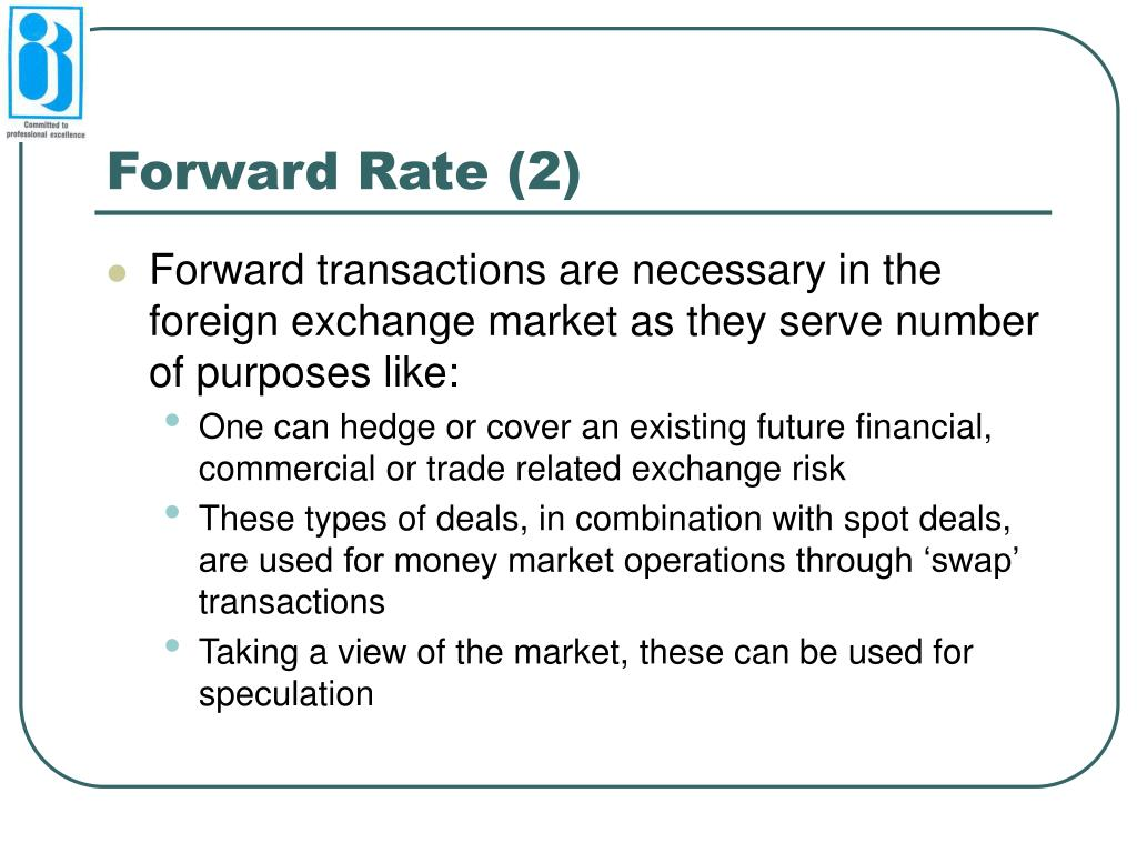 Forward Rate (2)