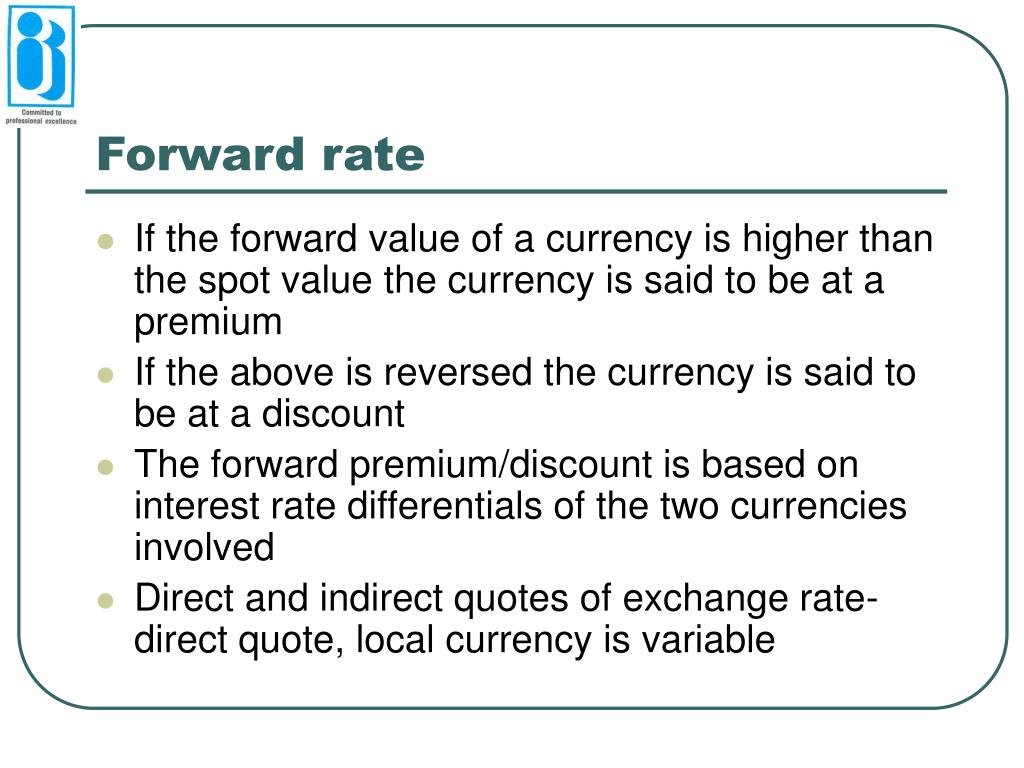 Forward rate