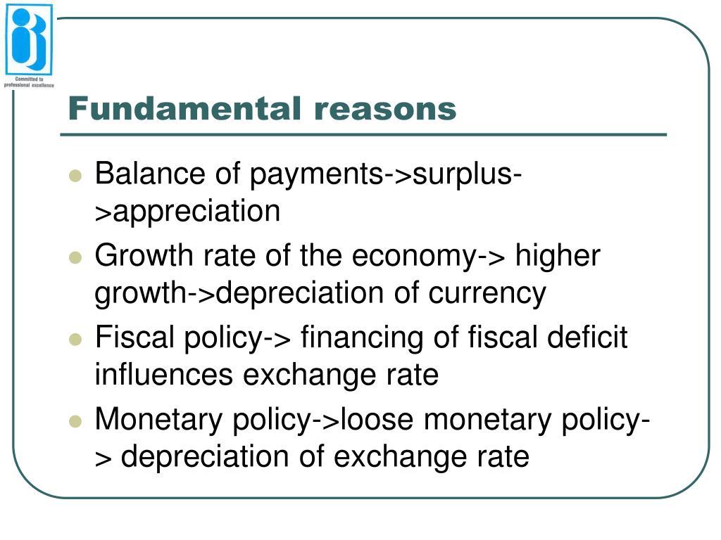 Fundamental reasons