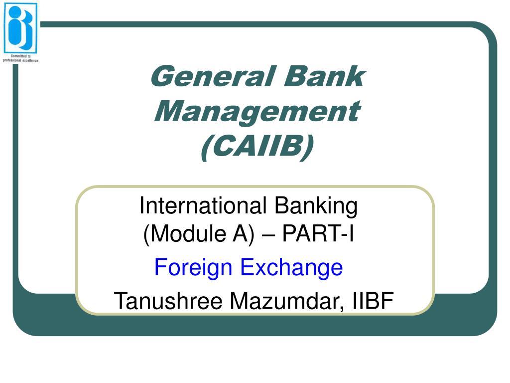 general bank management caiib