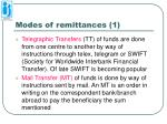 modes of remittances 1