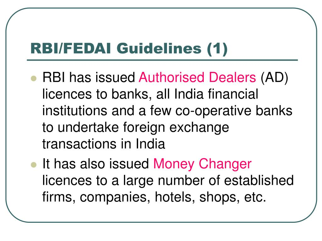 RBI/FEDAI Guidelines (1)